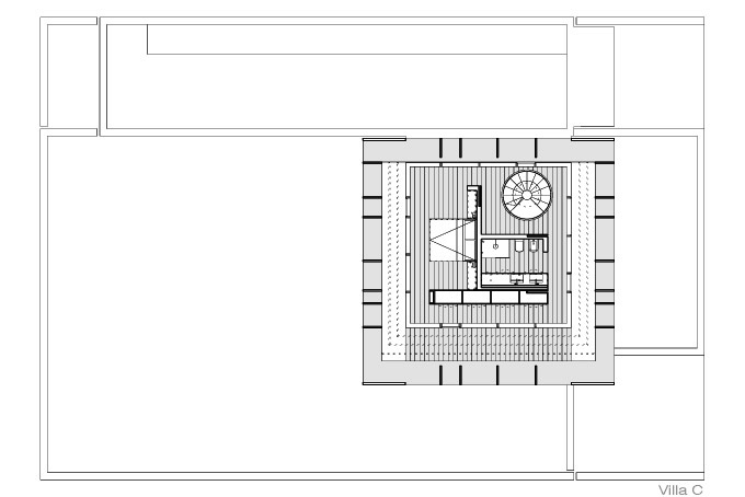 jesolo lido pool villas drawings by jm architecture